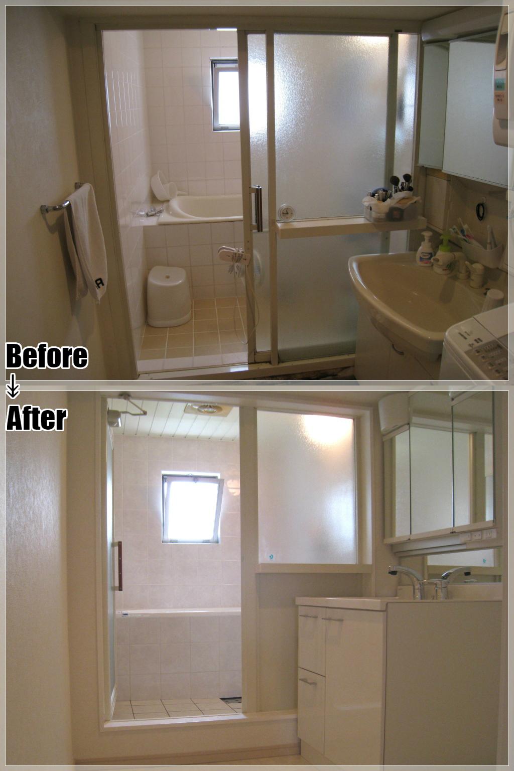 マンションリフォームの施工事例 Case.01 洗面室・浴室リフォーム