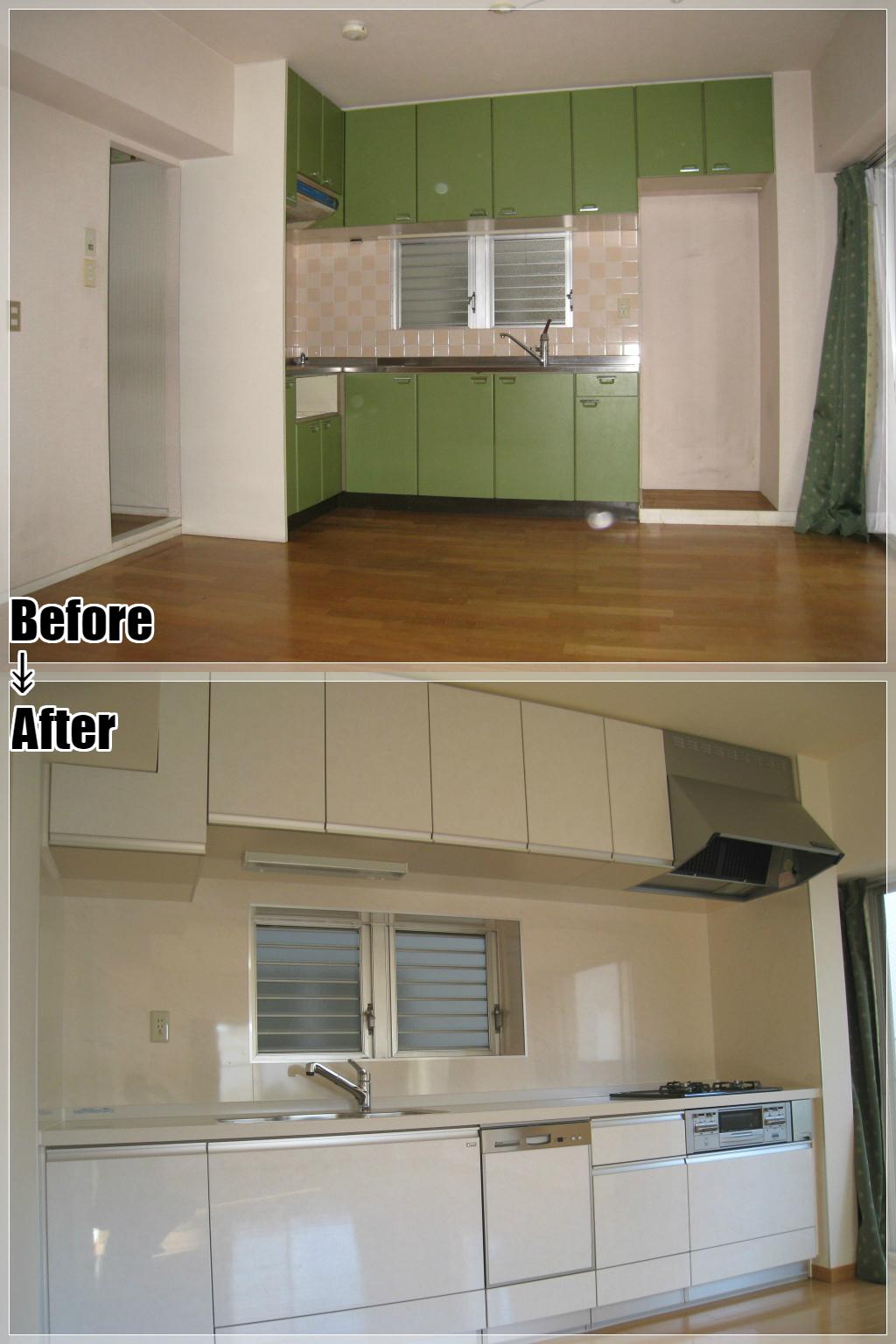 マンションリフォームの施工事例 Case.02 セクショナルキッチン・システムキッチン