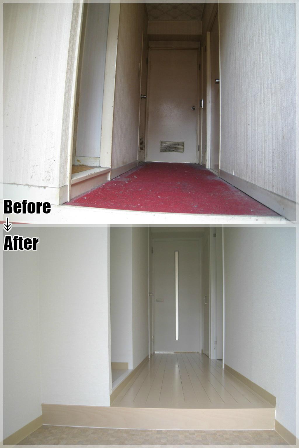 マンションリフォームの施工事例 Case.03 玄関・廊下