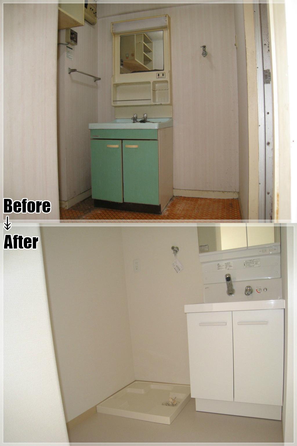 マンションリフォームの施工事例 Case.03 洗面室