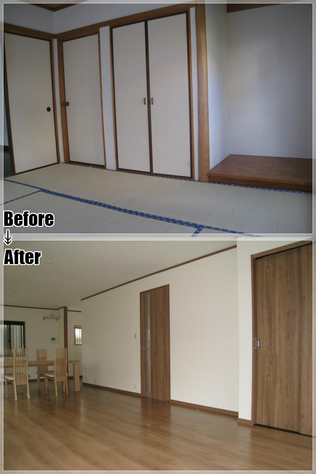 戸建てリフォームの施工事例 Case.05 和室・LD