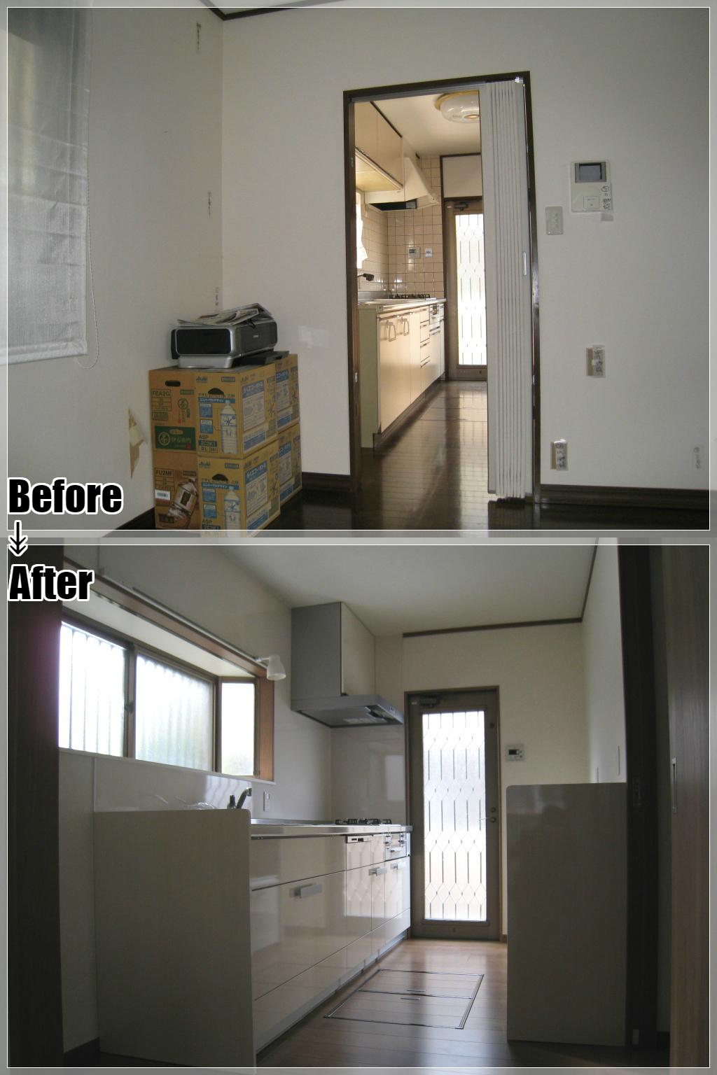 戸建てリフォームの施工事例 Case.05 キッチン
