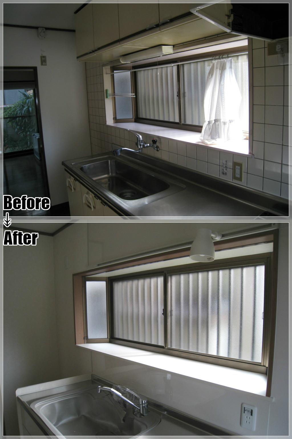 戸建てリフォームの施工事例 Case.05 キッチン出窓