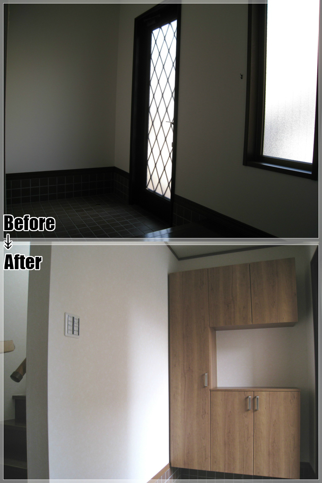 戸建てリフォームの施工事例 Case.05 玄関・玄関収納