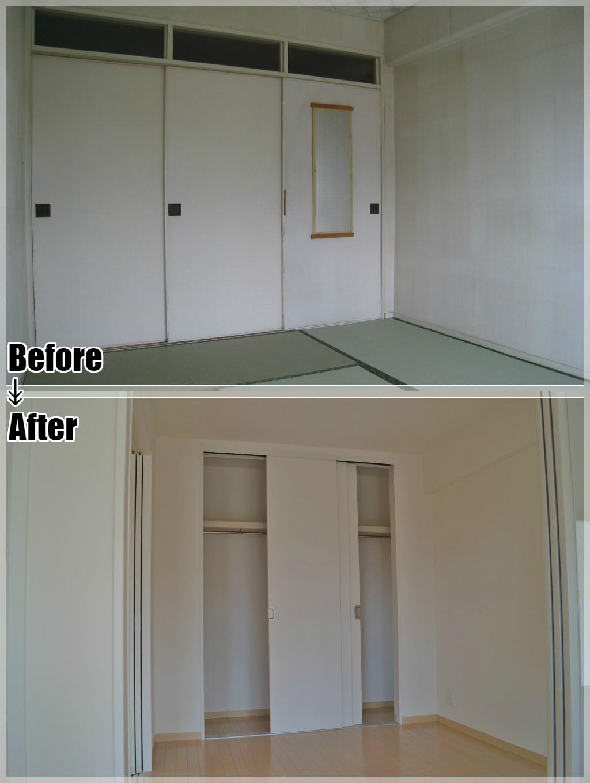 マンションリフォームの施工事例 Case.08 和室・洋室・クローゼット