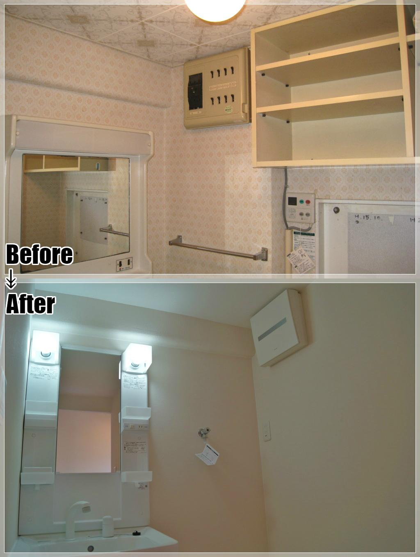 マンションリフォームの施工事例 Case.08 洗面室