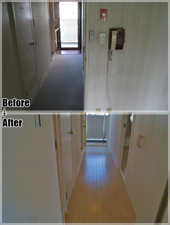 マンションリフォームの施工事例 Case.08 玄関・廊下