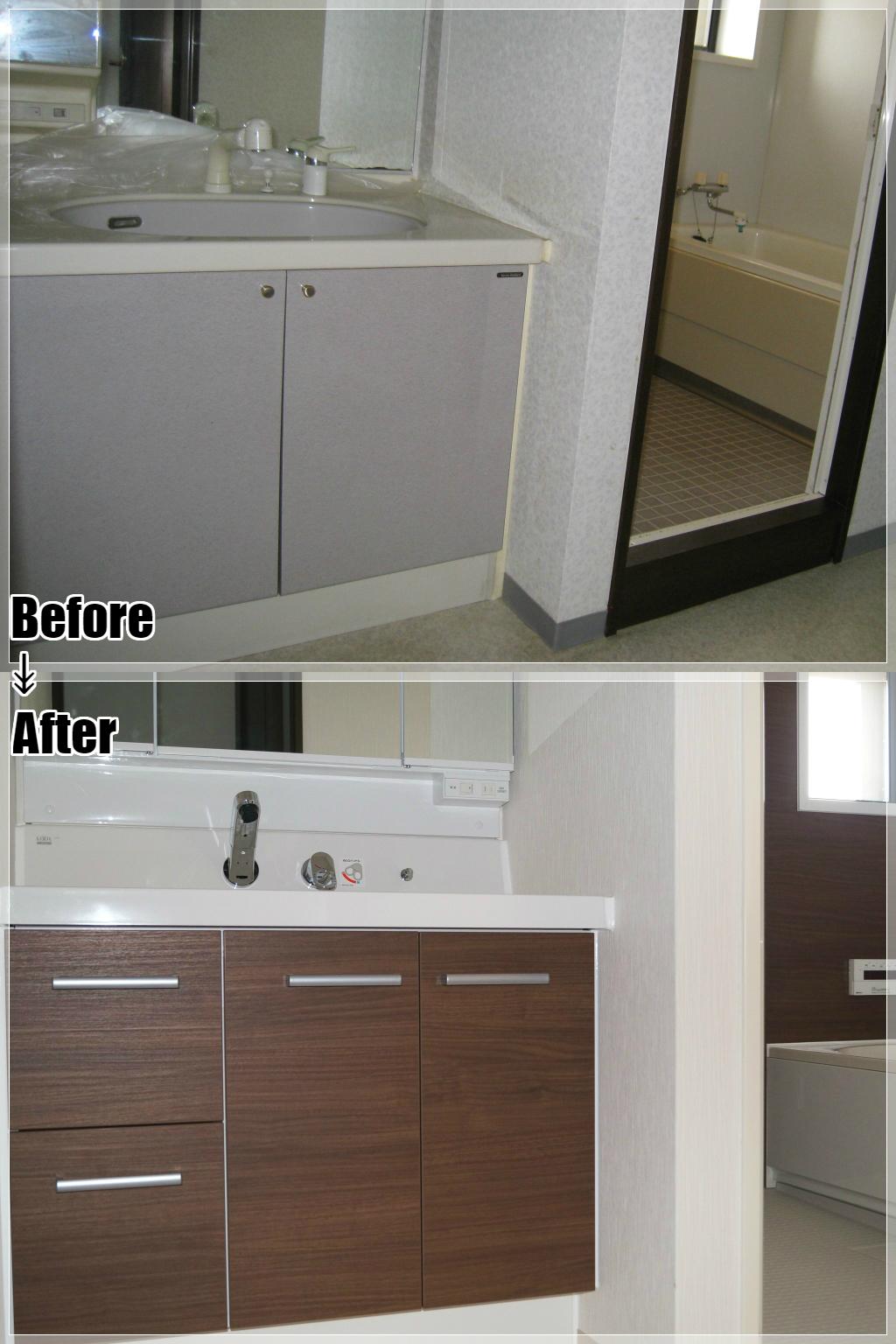 マンションリフォームの施工事例 Case.10 洗面室