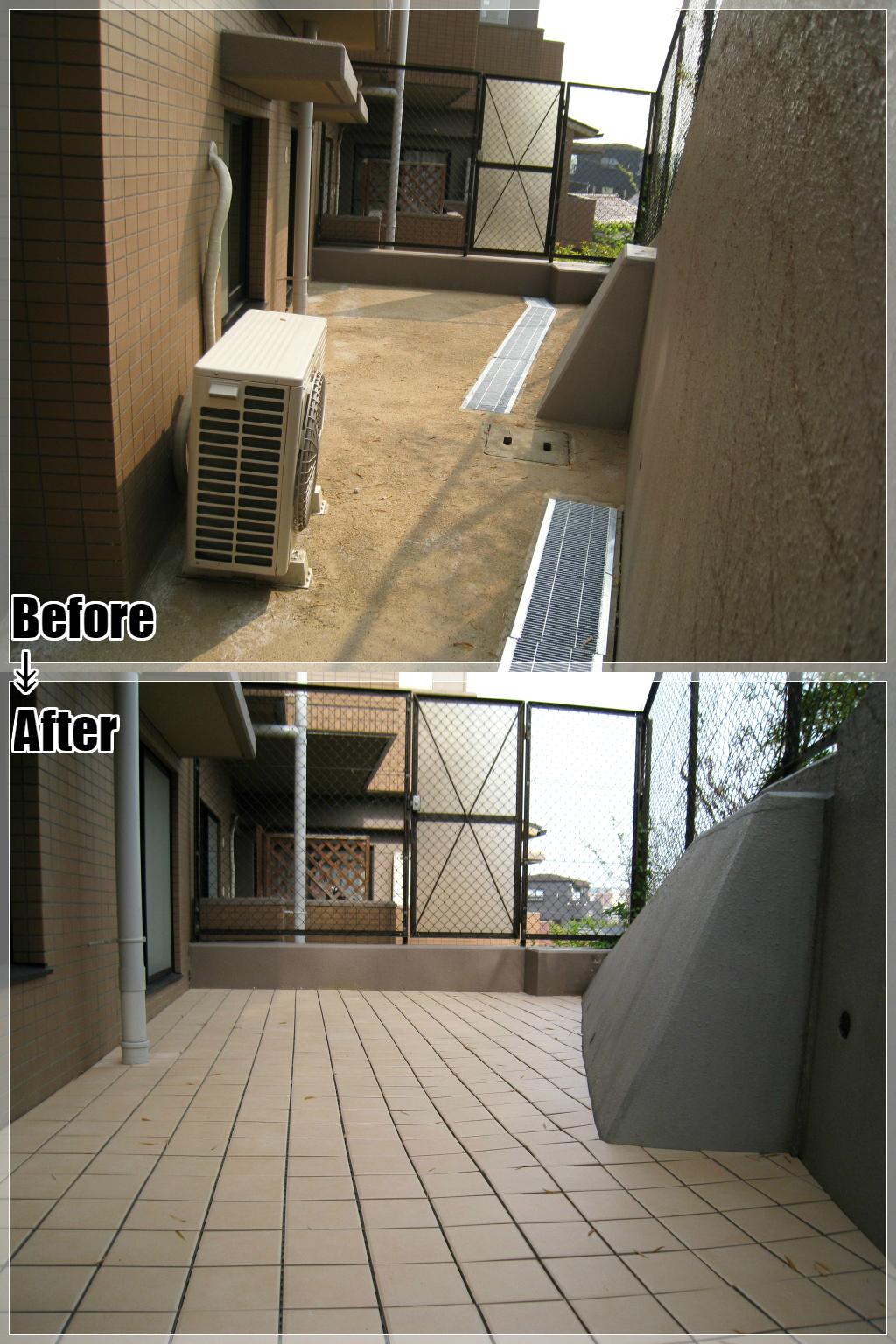 マンションリフォームの施工事例 Case.12 マンションの専用庭