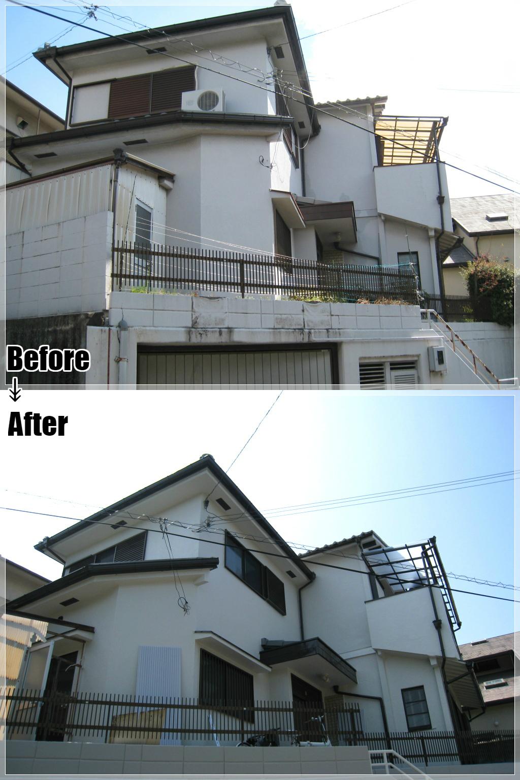 戸建てリフォームの施工事例 Case.14 外壁塗装・エクステリア