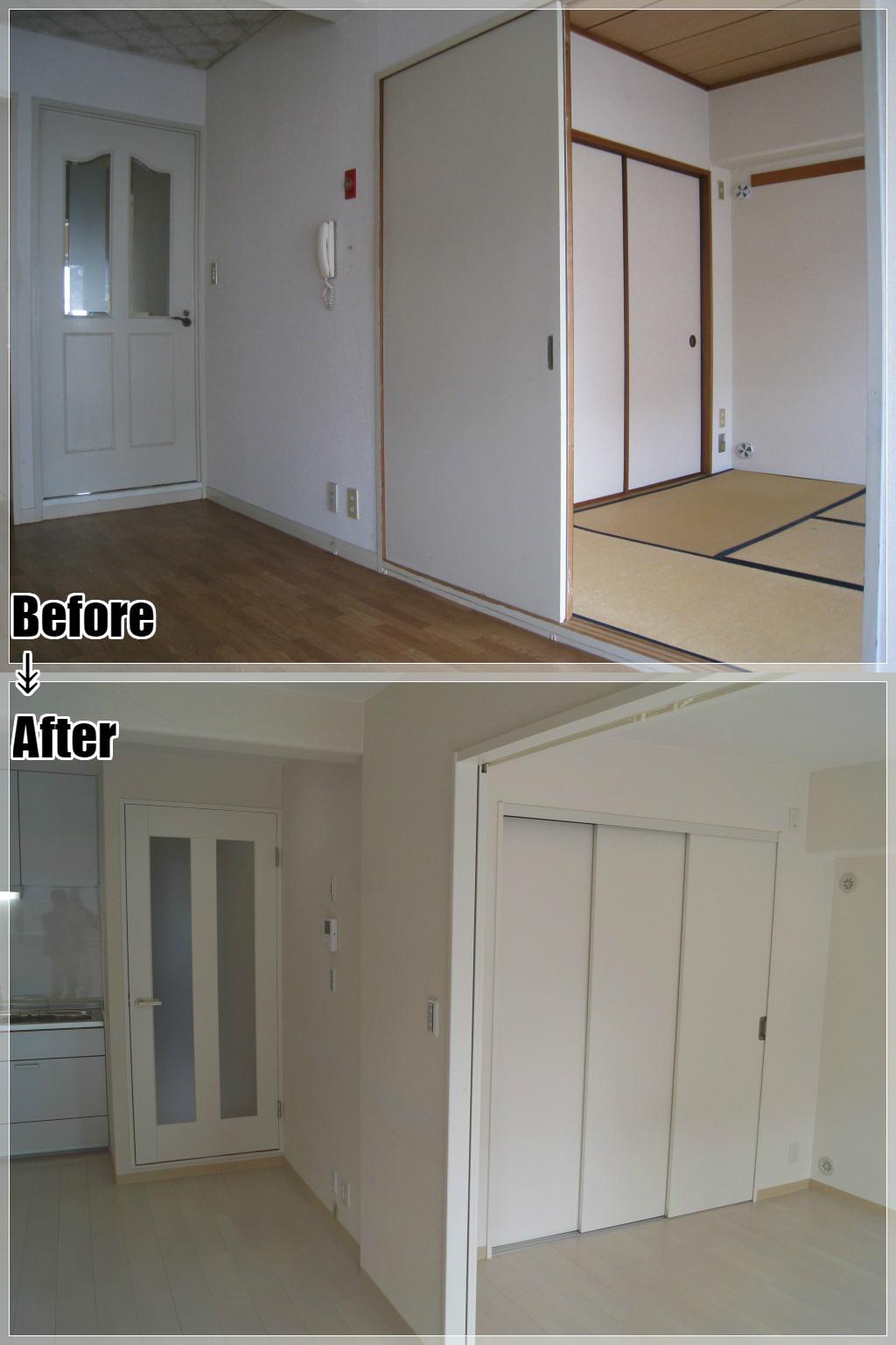 マンションリフォームの施工事例 Case.16 LDK・和室から洋室