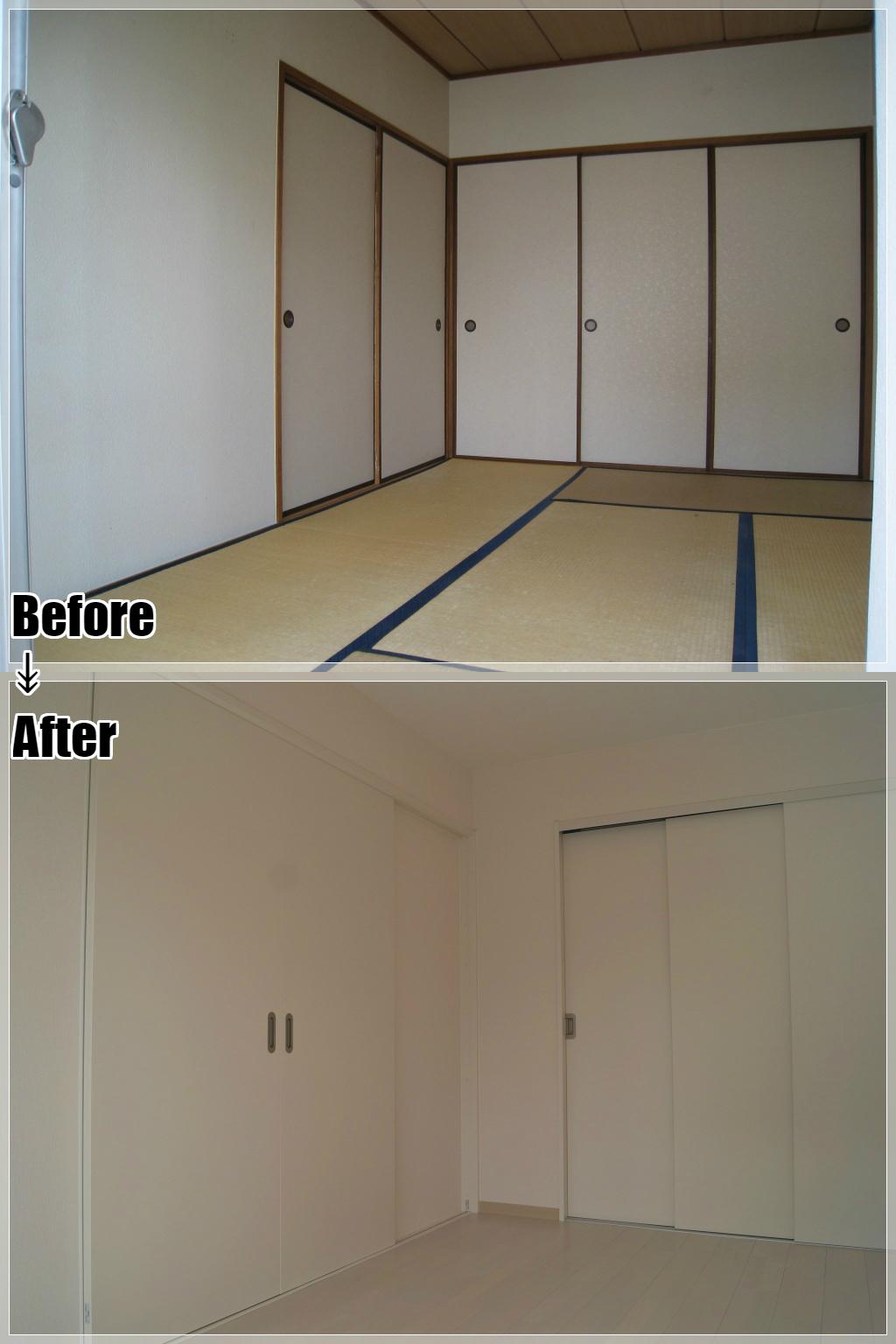 マンションリフォームの施工事例 Case.16 和室から洋室