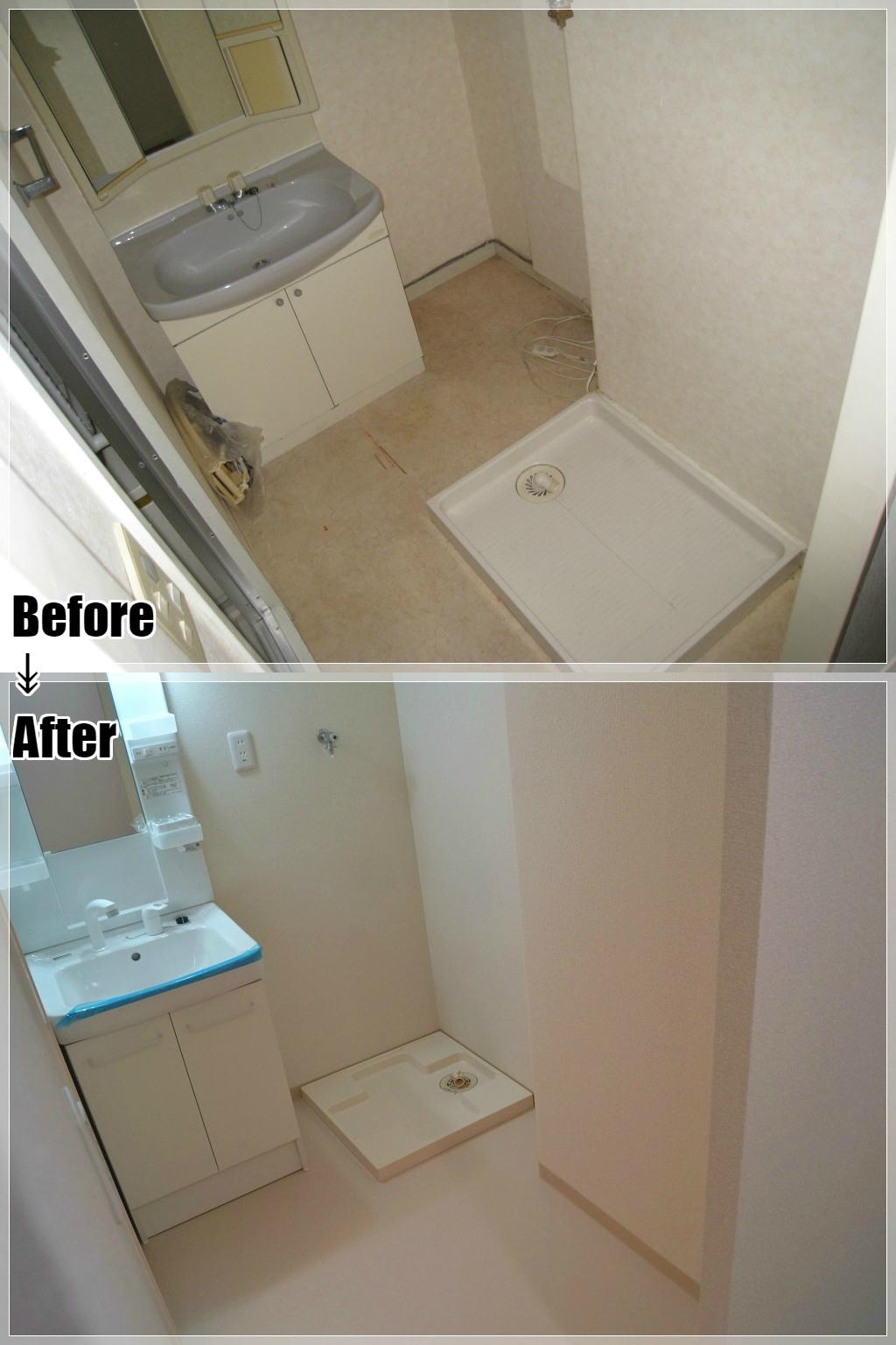 マンションリフォームの施工事例 Case.16 洗面室