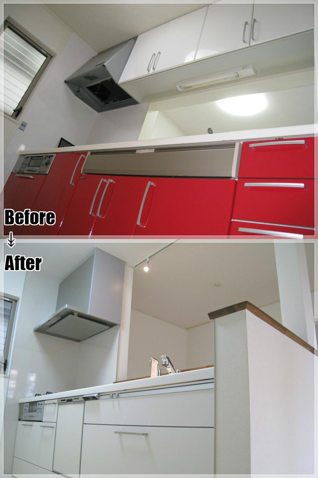 戸建てリフォームの施工事例 Case.20 対面キッチンのリフォーム