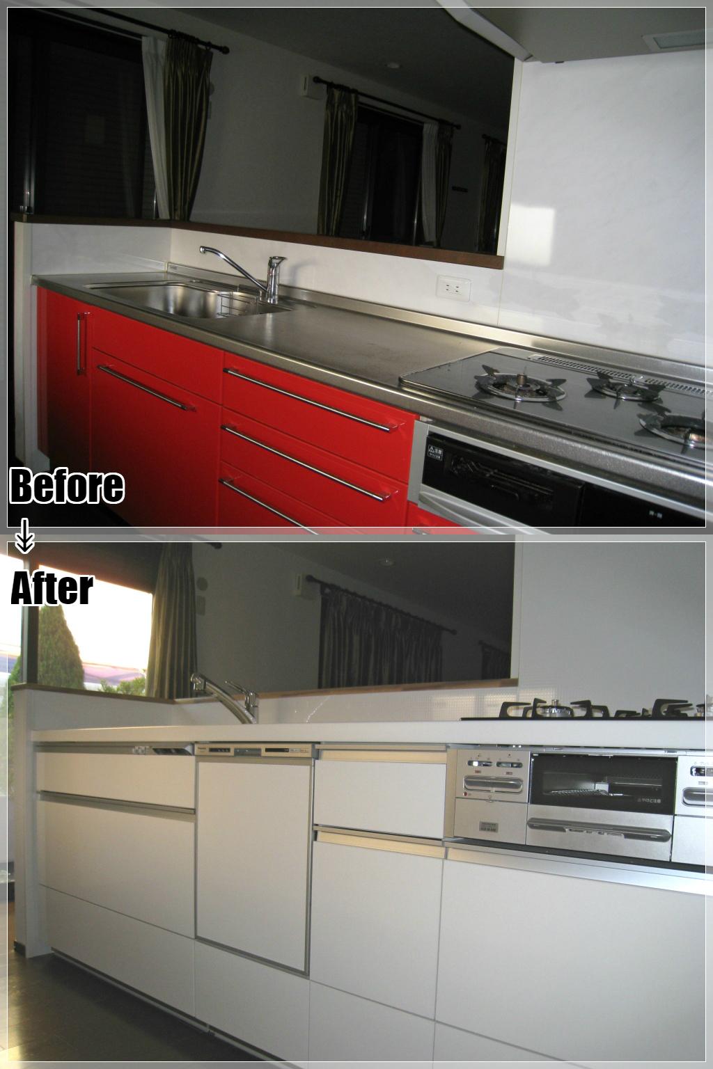 戸建てリフォームの施工事例 Case.23 対面キッチンのリフォーム