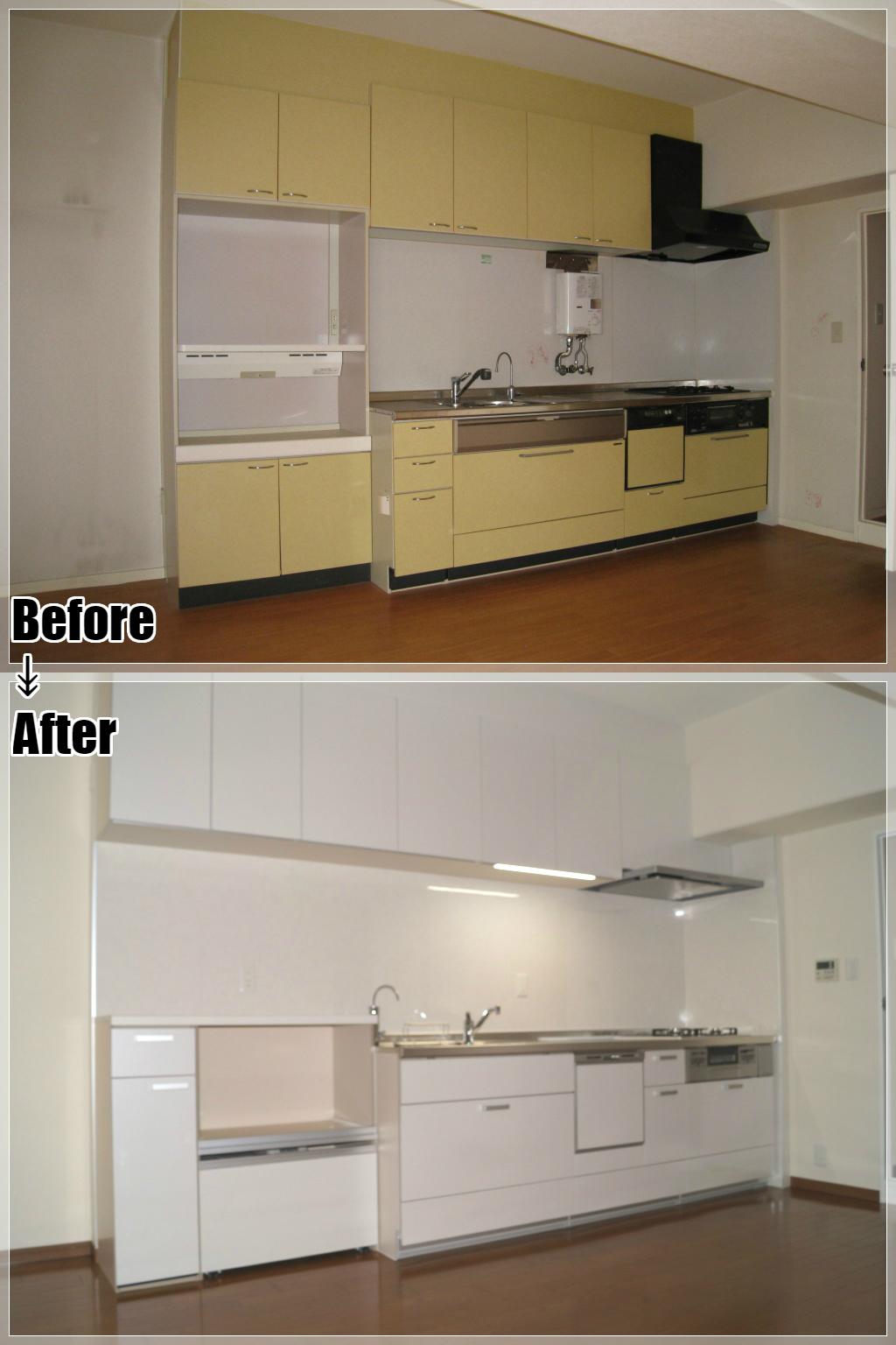 マンションリフォームの施工事例 Case.27 システムキッチン