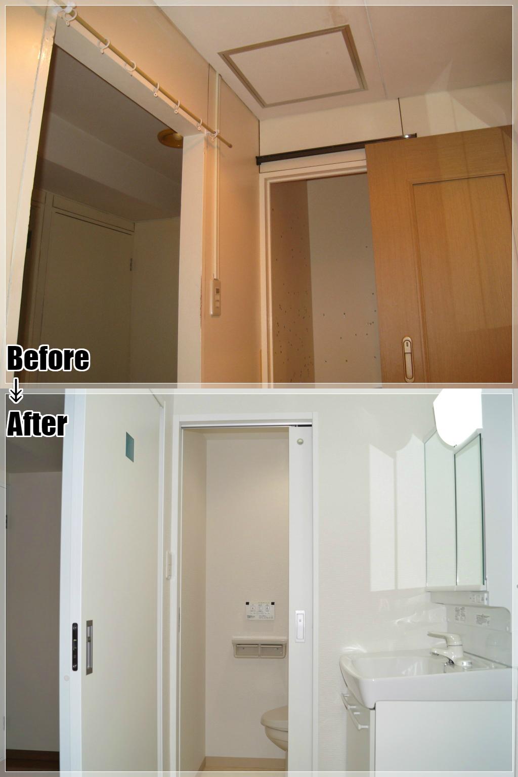 マンションリフォームの施工事例 Case.27 洗面室・内装ドア
