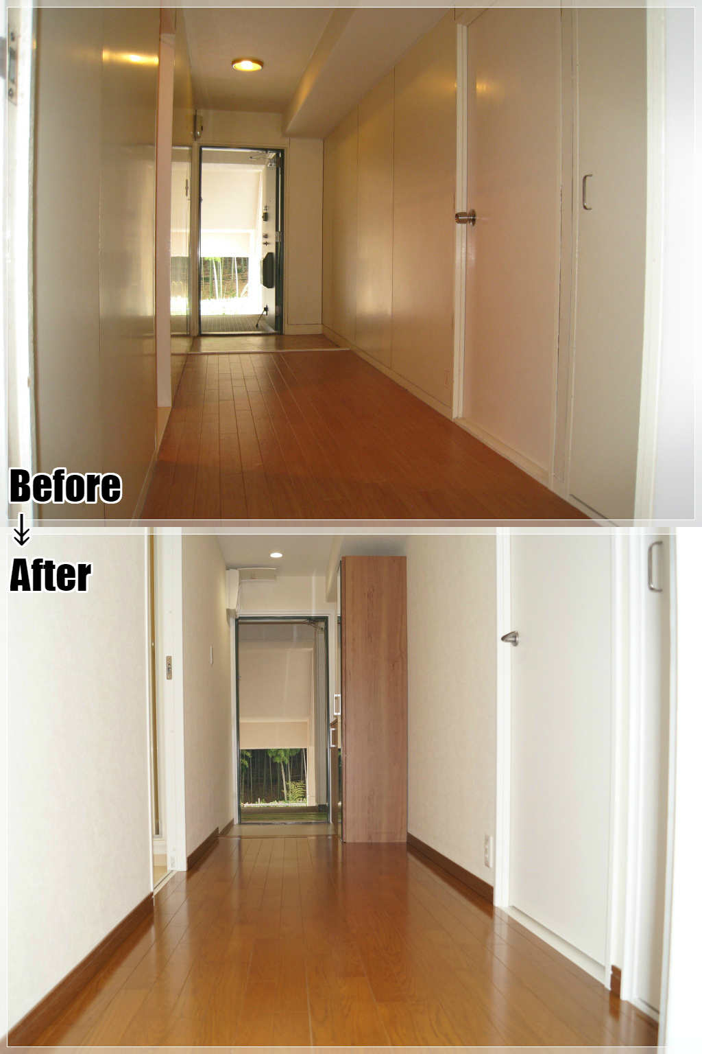 マンションリフォームの施工事例 Case.27 玄関収納・内装ドア