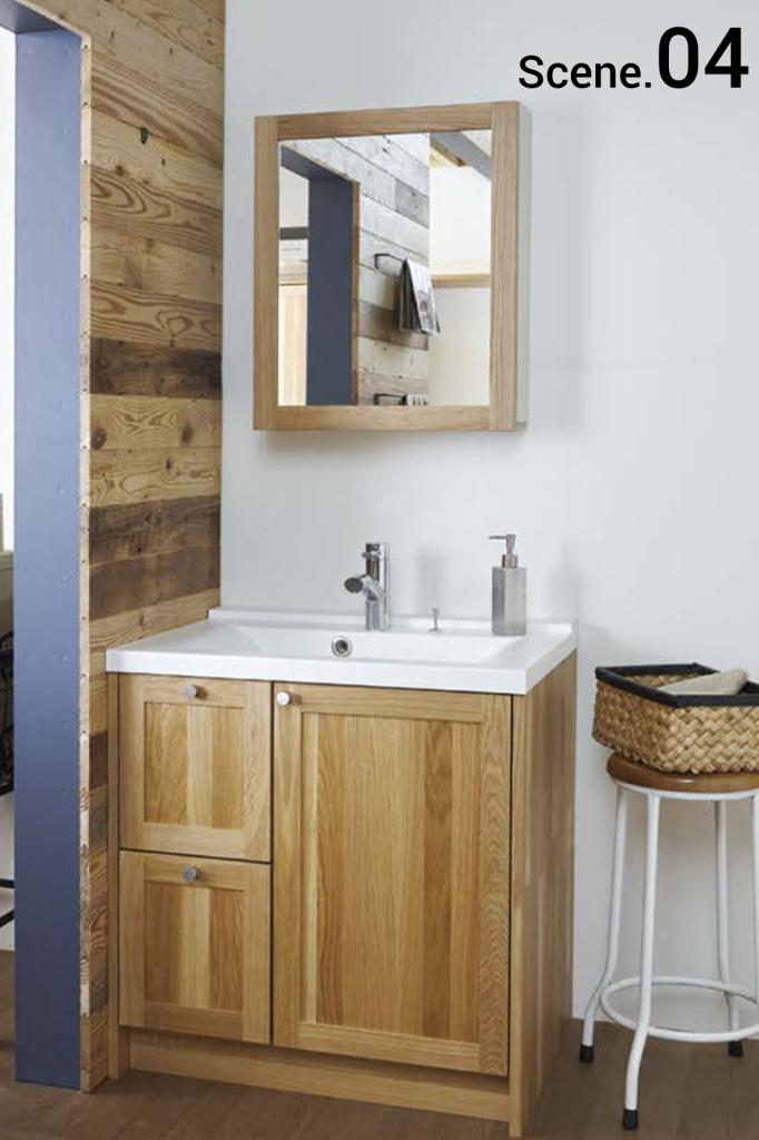 豊中市のリフォーム会社が提案する無垢の木の洗面台
